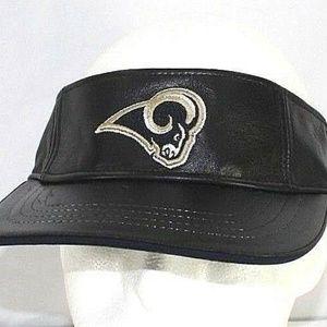 Los Angeles Rams Leather  Visor  Adjustable